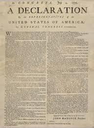 Declaration of Independence broadside 1776 Jamestown-Yorktown ...