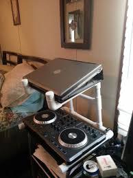 pvc dj laptop and mixer stand diy