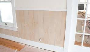 half wall wood paneling diy