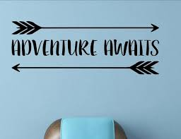 Adventure Awaits Wall Decor Stickers Contemporary Wall Decals By Vinylsay Llc