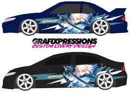 Anime Sword Scene Custom Vehicle Livery Graphics Car Wrap Vinyl For Cars Vehicles