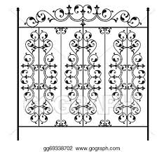 Eps Vector Wrought Iron Gate Door Fence Window Grill Railing Design Stock Clipart Illustration Gg69338702 Gograph