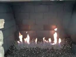 lava media for fireplace installation