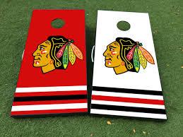 Product Chicago Blackhawks Cornhole Board Game Decal Vinyl Wraps With Laminated