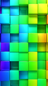 blocks 4k 5k 3d iphone wallpaper
