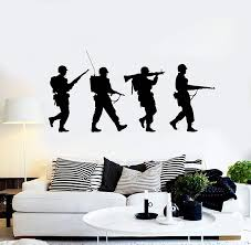 Waliicorners Vinyl Wall Decal Silhouette Soldiers War Military Art Boys Room Stickers Mural Unique Gift 2fj44 Waliicorner S Store