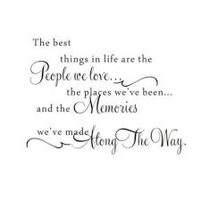 details about the best things in life love memories wall quote