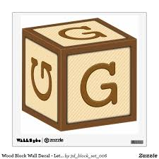 This Wall Decal Features The Letter G On A Child S Wooden Block Perfect For The Nursery Available In Sizes U Diy Nursery Wall Decals Wall Decals Wood Blocks