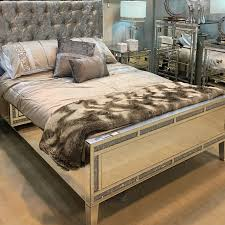 diamond glitz mirrored king size bed