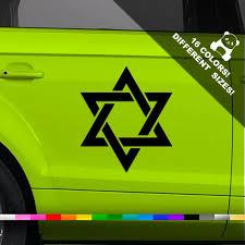 50 Off Star Of David Car Vinyl Decal Jewish Star Window Etsy