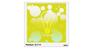 Custom Imagine Quote Wall Decal Zazzle Com