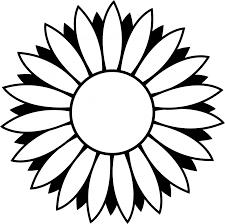 sunflower outline transpa png