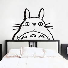 Totoro Inspired Totoro Head Vinyl Wall Decal Sticker Wall Etsy