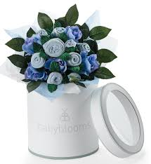 بوكيه هدية ملابس المواليد من ماركة بيبي بلومز لون أزرق