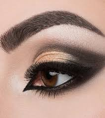 dramatic cut crease arabic eye makeup
