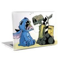 Stitch And Wall E Macbook Skin Decal