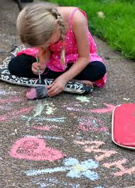 DIY Sidewalk Chalk Paint for End of Summer | Make and Takes