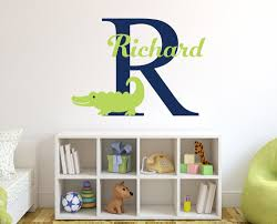 Personalized Name Alligator Wall Stickers For Boy S Bedroom Removable Diy Wall Stickers For Kids Room Nursery Mural Jw015 Sticker For Kids Room Name Wall Stickerswall Sticker Aliexpress