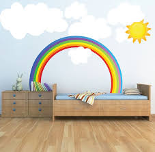 Rainbow Wall Decals Weather Wall Decal Murals Kids Room Wall Kid Room Decor Rainbow Wall Decal