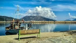 sami port kefalonia island in greece