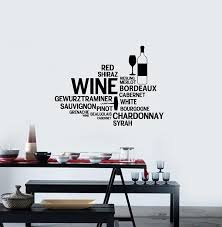 Amazon Com Wine Vinyl Wall Decal Words Cloud Restaurant Bar Alcohol Decor Stickers Mural And Stick Wall Decals Home Kitchen