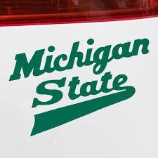 Michigan State Sticker Hockey Logo Vinyl Car Decal Nudge Printing