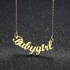 pendant customized nameplate necklaces