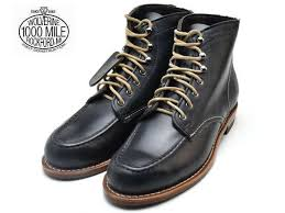 boots black leather men boots