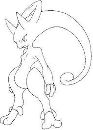 Dibujo Para Colorear Pokemon Megaevolucionados Mega Y Mewtwo 150