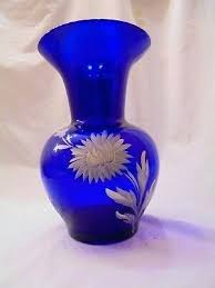 large blue glass vase zaradatabase co