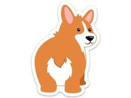 Corgi Butt Cute Corgi Dog Sticker Decal Laptop Cell Phone Cover 4 X 3 Newegg Com