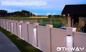 Othway Solar Fence Post Lights Wall Mount Decorative Deck Lighting Black 4 Packs Amazon Com Fence Wall Design Fence Gate Design Post Lights