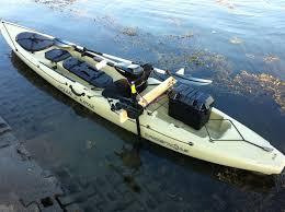diy kayak electric motor bracket build