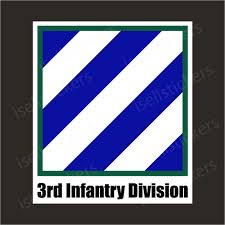 3rd Infantry Division Army Unit Crest Bumper Sticker Window Decal