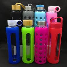 borosilicate glass water bottle
