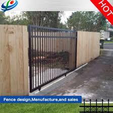 China Latest Automatic Entrance Pipe Driveway Garden Slidingiron Main Gate Designs China Aluminum Fence Panel And Fence Gate Price
