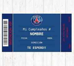 Paris Saint Germain Digital Birthday Party Invitation Joyeux