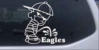 Pee On Eagles Car Or Truck Window Decal Sticker Rad Dezigns