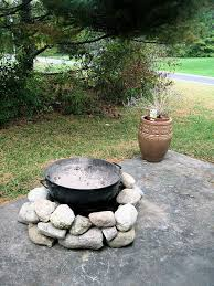 temporary diy fire pit this is a good