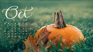 october desktop background pumpkin