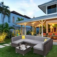 malibu 5 piece outdoor patio sofa set