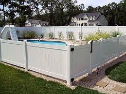 Vinyl Privacy Half Height Fence Vinyl Privacy Fence Pool Fence Vinyl Fence