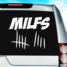 Milfs Tally Marks Vinyl Car Truck Window Decal Sticker Funny Decal