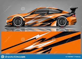 Car Decal Wrap Design Vector Graphic Abstract Stripe Racing Background Kit Designs For Vehicle Race Car Rally Adventure And Li Stock Vector Illustration Of Flames Automobile 143649061