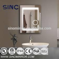 fogless led bathroom wall mirror light