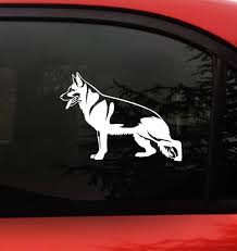 Amazon Com German Shepherd Dog Vinyl Decal For Cars Gsd Facing Left Arts Crafts Sewing