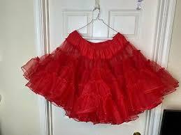 Vintage Petticoat Skirt NITA SMITH Crinoline Tutu Rockabilly Square Dance  RED   eBay