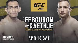 UFC 249 Тони Фергюсон – Джастин Гэтжи: где смотреть и как ...