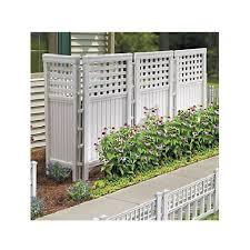 Folding Outdoor Screen Concealing Wall Garden Trellis Decorative Vinyl Fence Ebay
