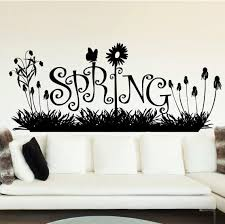 The Holiday Aisle Spring Grass And Flowers Wall Decal Wayfair